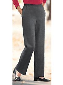 Wool Flannel Pull-On Pants