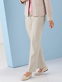 Poly-Shantung Pull-On Pants