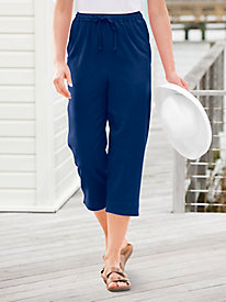 Ladies' Comfortable Capri Pants - Cotton, Denim & Twill | Appleseeds
