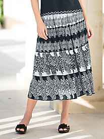 Black & White Crinkle Skirt