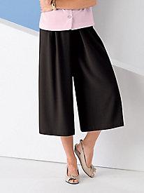 Koret Look-of-Linen Split Skirt