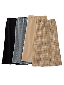 Wool-Luxe Plaid Skirt by Koret®