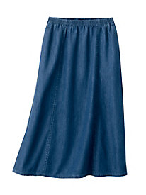 Denim Tencel Skirt