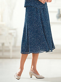 'Dressy in Dots' Six-Gore Skirt
