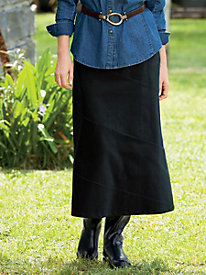 Stretch Pincord Seamed Skirt