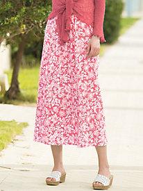 Tahitian Floral Crinkle Skirt