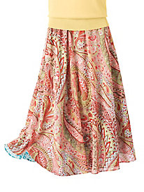 Paisley Floral Reversible Skirt