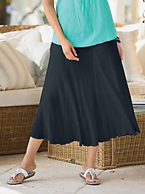 Cotton Gauze Gored Skirt