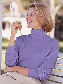 Cotton Interlock Turtleneck