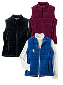 Velour Light-Quilt Vest