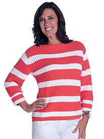 Chunky Stripe Sweater by Leon Levin&#174