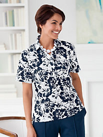Spring Breeze Print Polos by Leon Levin�