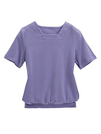 Shimmer Square Neck Tee