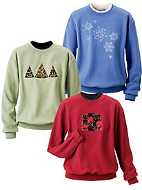 Joys of the Season Embroidered Sweatshirt