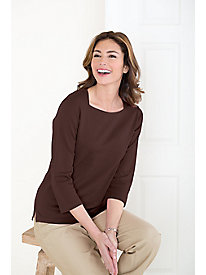 Face-Flattering Solid Tee