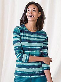 Painterly Stripe Tee by Koret