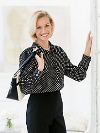 Crinkle Dot Blouse