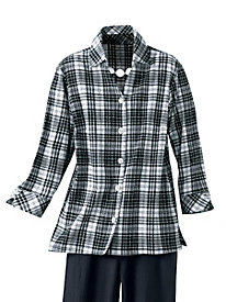 Black & White Mojave Plaid Shirt