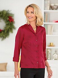 Audrey Poly Charmeuse Blouse