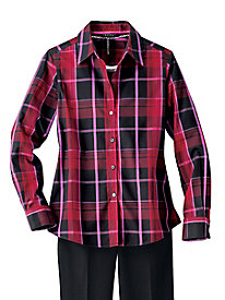 Foxcroft Holiday Plaid Shirt