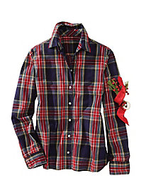 No-iron Plaid Shirt by Foxcroft