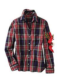 No-iron Plaid Shirt by Foxcroft