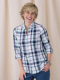Soft Plaid Shirt by Foxcroft�