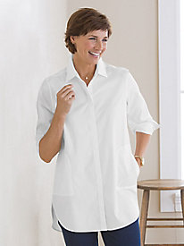 White Tunic Shirt by Foxcroft®