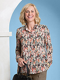 Brushstrokes Print Blouse by Koret®