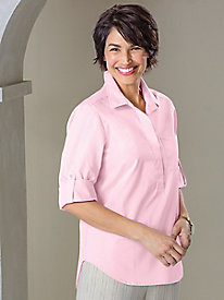 Hi-Lo Popover Shirt by Foxcroft®
