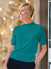 Spindrift&#8482 Short-Sleeve Mockneck Sweater