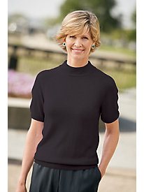 Spindrift Short-Sleeve Mockneck Sweater