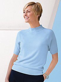 Spindrift Short-Sleeve Mockneck Sweater