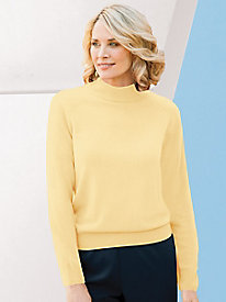 Spindrift Zip-Back Mockneck Sweater