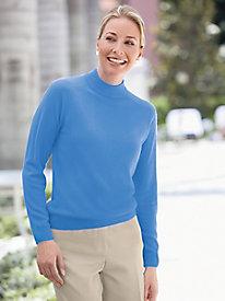 Spindrift Zip-Back Mockneck Sweater