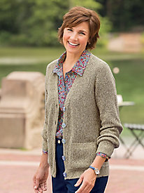 Shaker Stitch Cardigan Sweater