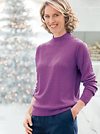 Spindrift Baby Cable Mockneck Sweater