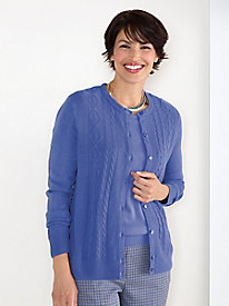 Spindrift Cable Cardigan Sweater