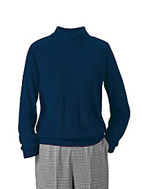 Spindrift Center Cable Mock-Neck Sweater