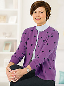 Dot Cardigan Sweater