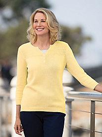 Texture Mix Cotton Sweater