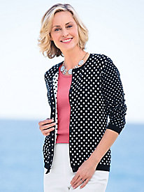 Double-Dot Cardigan