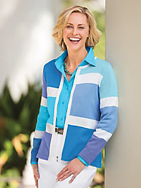 Caribbean Color-Block Cardigan