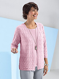 2-in-1 Pointelle Cardigan Set