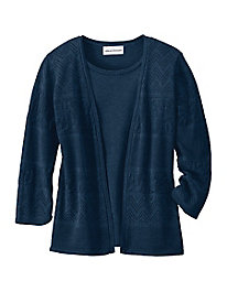 Pointelle 2-In-1 Cardigan Set by Koret