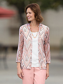 2-IN-1 Diamond Shimmer Cardigan Set