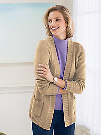 Boucl� Open Front Cardigan by Koret�