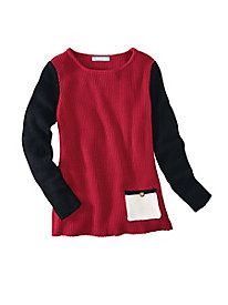 Colorblock Shaker Sweater by Koret�