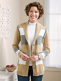 Colorblock Shawl Cardigan