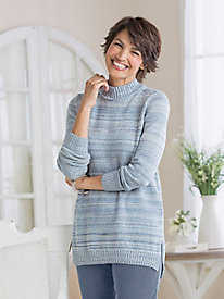 High-Low Marled Sweater